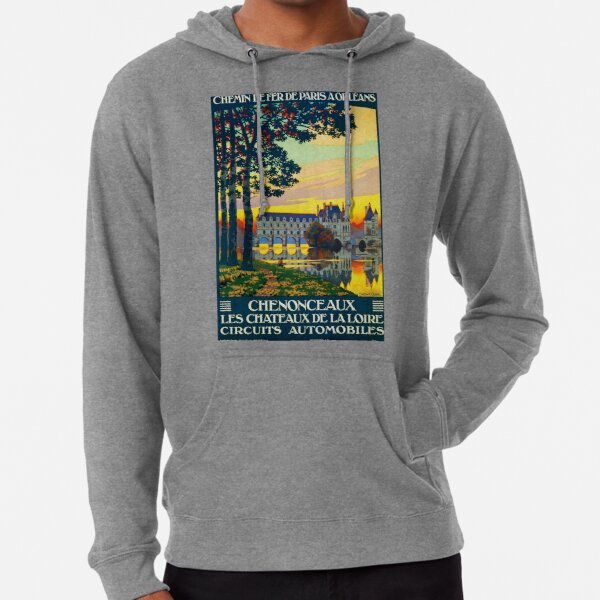Chenonceaux, French Travel Poster Lightweight Hoodie