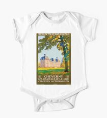 Cheverny, French Travel Poster One Piece - Short Sleeve