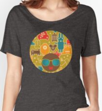 Robots on green Women's Relaxed Fit T-Shirt