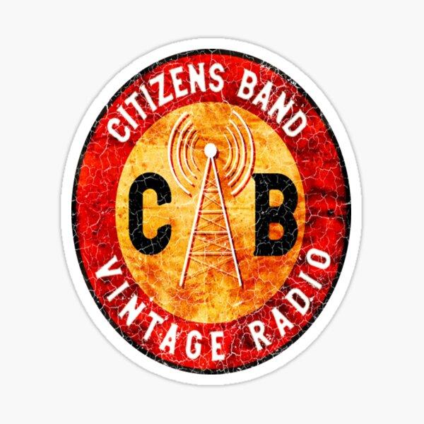 Camiseta Cb Ham Radio Camiseta CB Citizens Band Amateur Radio Vintage T-Shirt_por ScienceNStuffStudio_ Pegatina