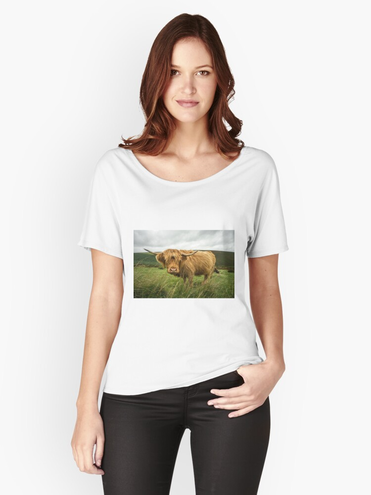 Hairy Coo  Women's Relaxed Fit T-Shirt Front