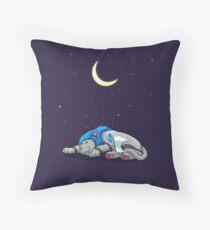 Derpkitty sleeping Throw Pillow