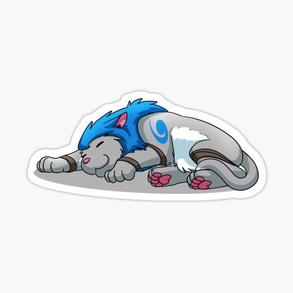 Derpkitty sleeping Sticker