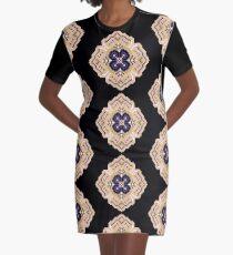 Pansy Pixel Puke Graphic T-Shirt Dress