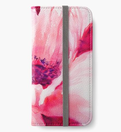 Pink Poppy iPhone Wallet