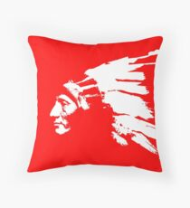 Whirling Horse Sioux Indian Chief Throw Pillow