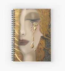 My Klimt Serie:Gold Spiral Notebook