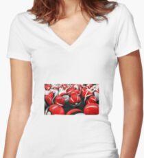 Pokeball GO! Women's Fitted V-Neck T-Shirt