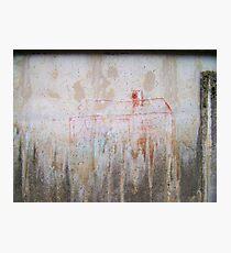 Haus im Regen Photographic Print