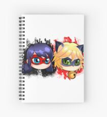Ladybug and chat noir Spiral Notebook