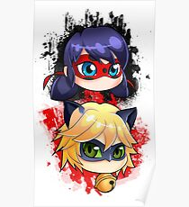 Ladybug and Chat noir vertical Poster