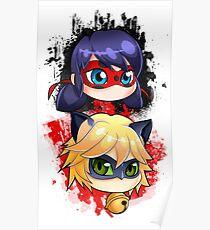 Ladybug y Chat noir vertical Poster