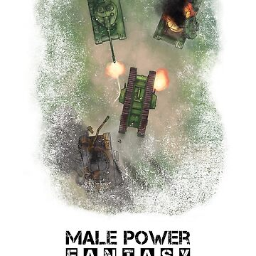 Male Power Fantasy - Now With Black Text by JcDent