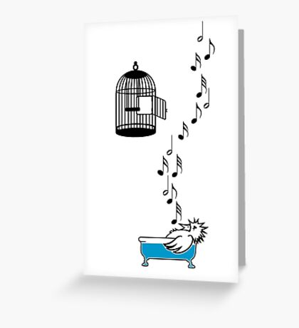 Empty Cage VRS2 Greeting Card