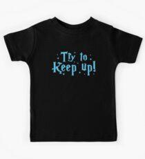 try to keep up (magic) Kids Tee
