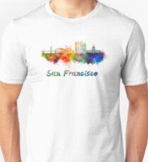 San Francisco skyline in watercolor Unisex T-Shirt