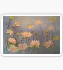 Beautiful lotus, serenity. Sticker