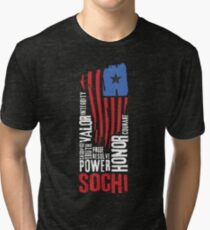 Sochi Flag Tri-blend T-Shirt