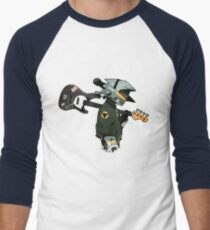 Camiseta ¾ bicolor para hombre Guitarra FLCL