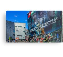 Don't Go Quietly - AFL Display at Federation Square, Melbourne Metal Print