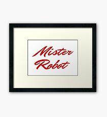 Mister Robot Framed Print