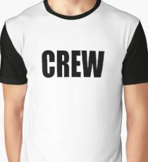 CREW, marina, yacht, sail, rigger, tall ships, sailor, Black type Graphic T-Shirt
