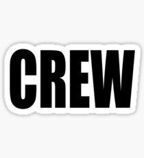 CREW, marina, yacht, sail, rigger, tall ships, sailor, Black type Sticker