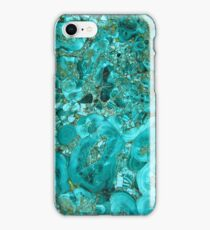 Marble Turquoise Blue Gold iPhone Case/Skin
