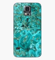 Marble Turquoise Blue Gold Case/Skin for Samsung Galaxy