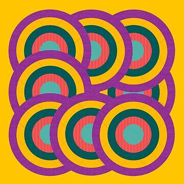 Colorful Circle Stacks by aliatuha