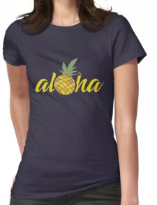 Aloha Pineapple   Womens Fitted T-Shirt