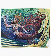Gargoyle Mermaid Poster