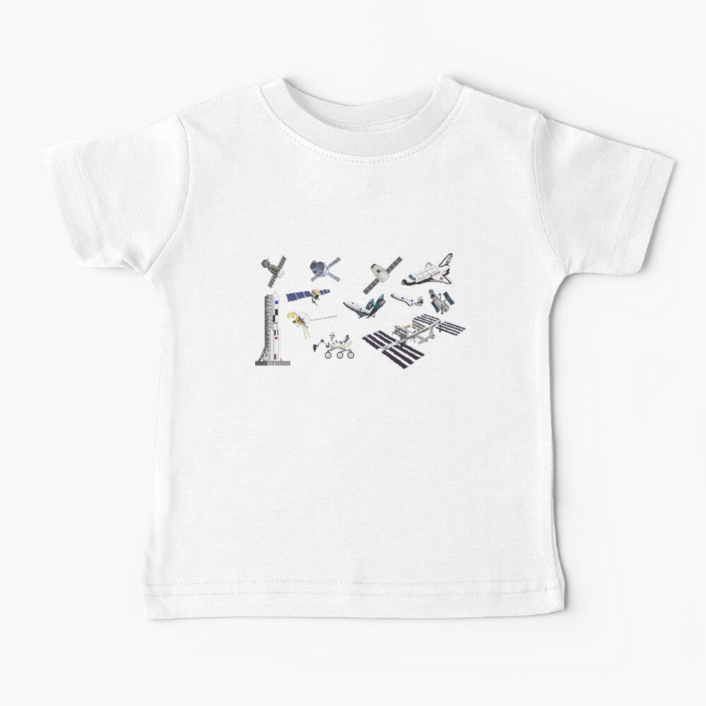 Spacecraft - Space Vehicles - The Kids' Picture Show - 8-Bit Baby T-Shirt