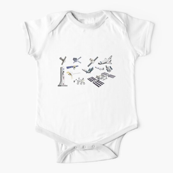 Spacecraft - The Kids' Picture Show Short Sleeve Baby One-Piece