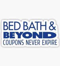 Bed Bath and Beyond Coupons Sticker