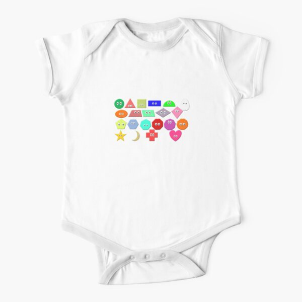 What Shape Is It? - The Kids' Picture Show Short Sleeve Baby One-Piece