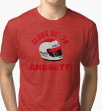 1978 F1 WORLD CHAMPION MARIO ANDRETTI Tri-blend T-Shirt