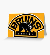 BOSTON BRUINS HOCKEY Greeting Card