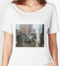 Auto Wreck in Washington DC, 1921. Colorized Relaxed Fit T-Shirt