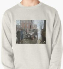 Auto Wreck in Washington DC, 1921. Colorized Pullover Sweatshirt