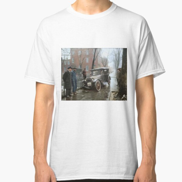 Auto Wreck in Washington DC, 1921. Colorized Classic T-Shirt