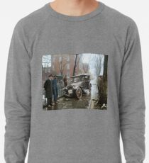 Auto Wreck in Washington DC, 1921. Colorized Lightweight Sweatshirt