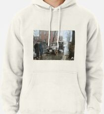 Auto Wreck in Washington DC, 1921. Colorized Pullover Hoodie