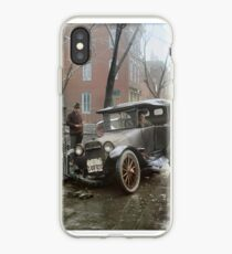 Auto Wreck in Washington DC, 1921. Colorized iPhone Case