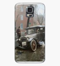 Auto Wreck in Washington DC, 1921. Colorized Case/Skin for Samsung Galaxy