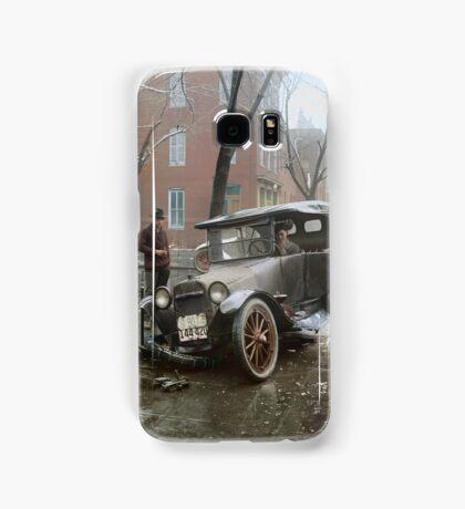 Auto Wreck in Washington DC, 1921. Colorized Samsung Galaxy Case/Skin