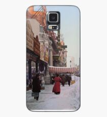 Piles of snow on Broadway, after storm, New York, ca 1905 Colorized Case/Skin for Samsung Galaxy
