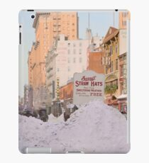 Piles of snow on Broadway, after storm, New York, ca 1905 Colorized iPad Case/Skin