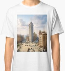 Flat Iron in New York City, ca 1903 colorized Classic T-Shirt
