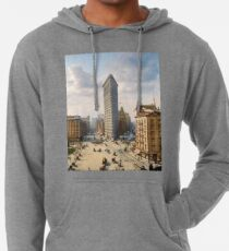 Flat Iron in New York City, ca 1903 colorized Lightweight Hoodie
